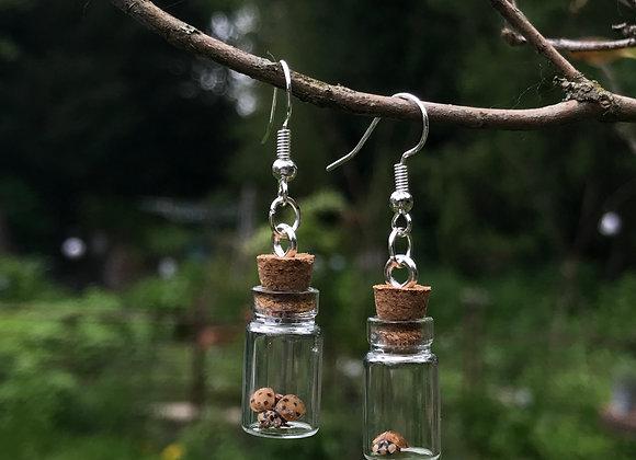 Ladybird Jar Earrings