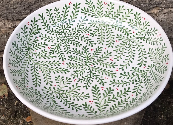 Mulberry Green Shallow Bowl