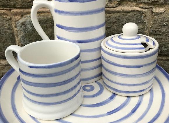 Blue Stripe Medium Farmhouse Jug