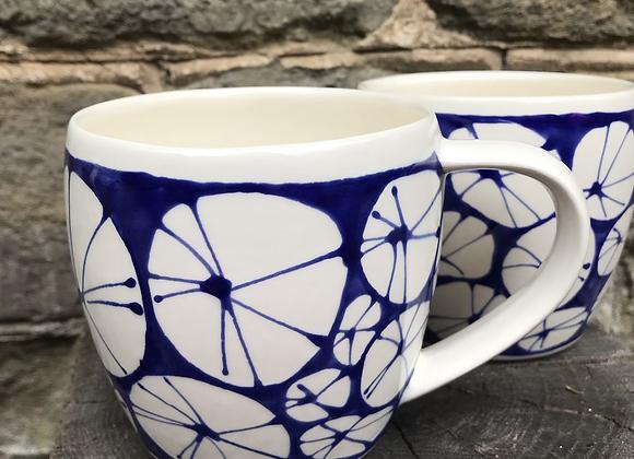 Blue Urchin large mug