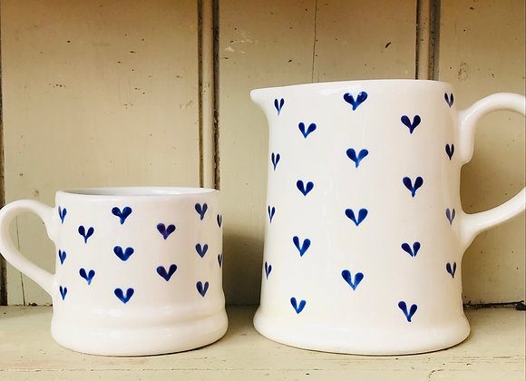 Blue Hearts Medium Country jug