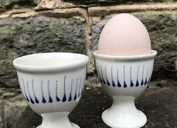 Blue Stockbridge Egg Cup
