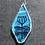 Thumbnail: Tulip Blue Glass Pendant