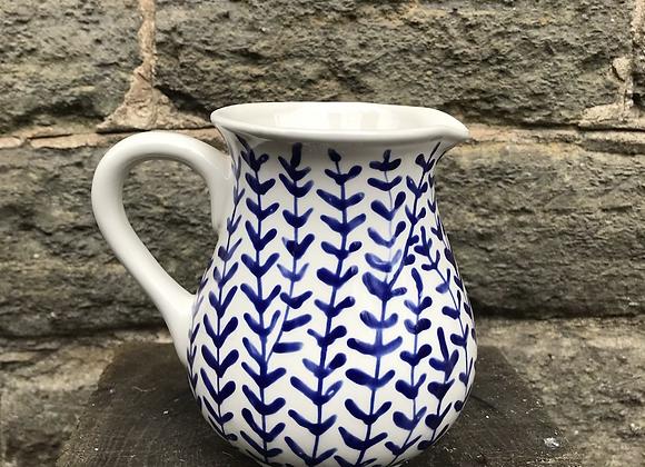 Blue Hebe large curvy jug