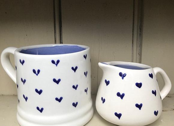 Blue hearts mug regular