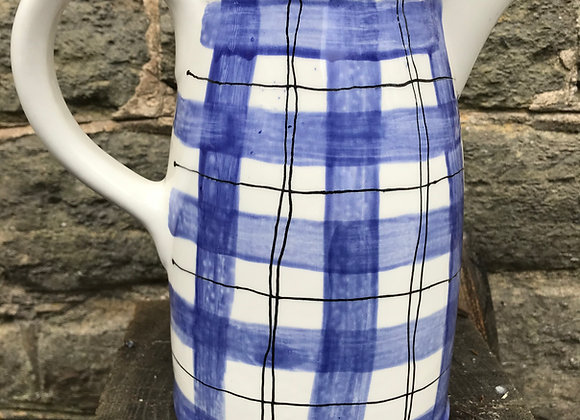 Blue Tartan Large Sussex  jug