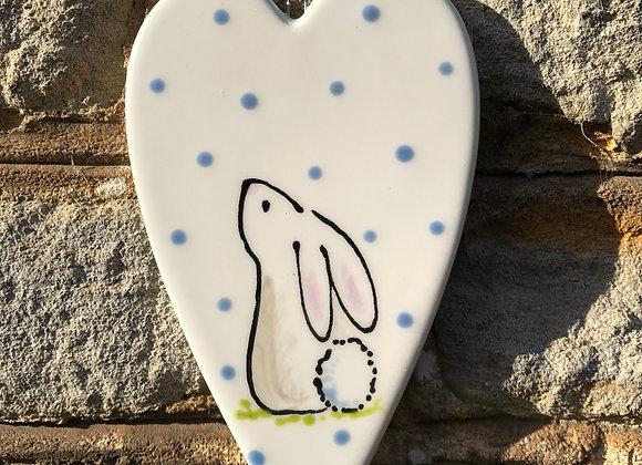 Rabbit Long Heart decoration