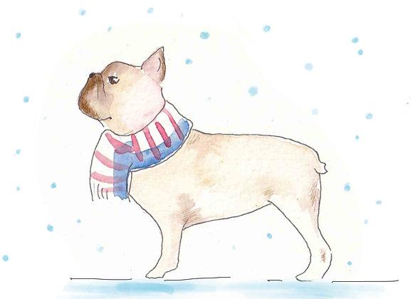 French Bulldog Christmas Cards set of 6