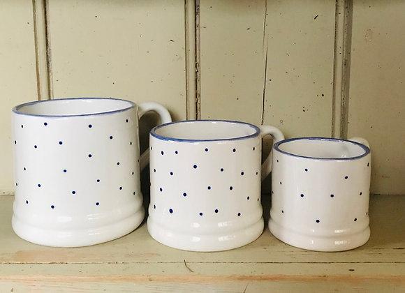 Mini spot baby mug blue