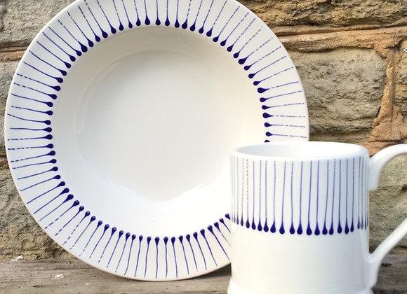 Blue Stockbridge Regular Mug