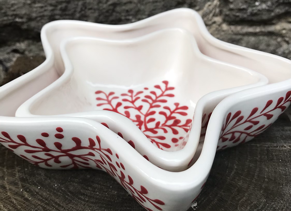 Mulberry Red Star Dishes