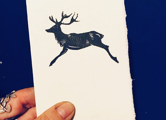 Stag Lino Cut set of 3 cards