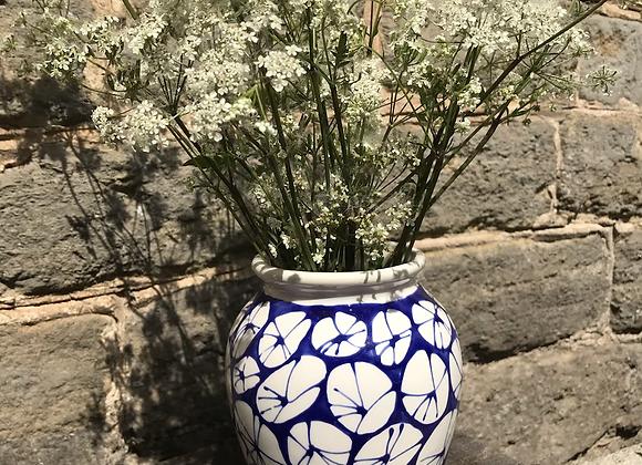 Blue Urchin Greatham Vase