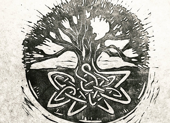 Linocut  Tree of Life