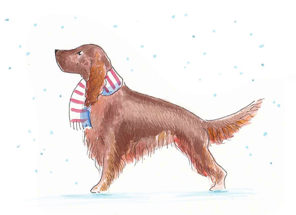 Red Setter Christmas Cards set of 6