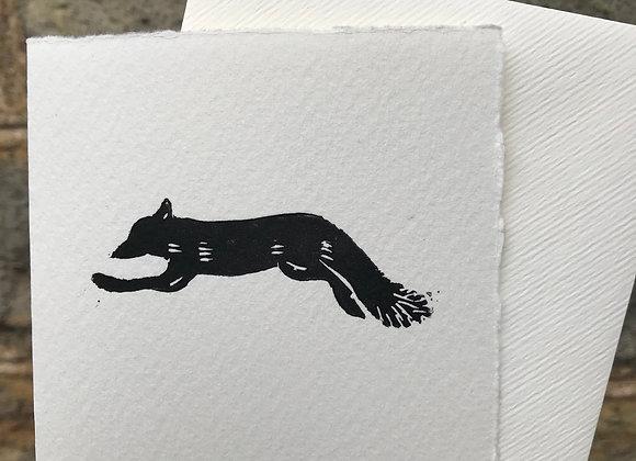 Fox Lino Cut set of 3 cards