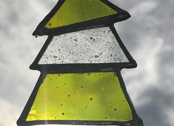 Glass Christmas Tree 3 Tiers