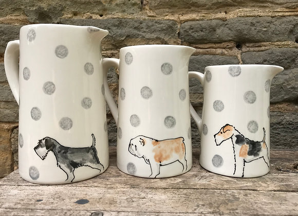 Dotty Dog Large Farmhouse Jug