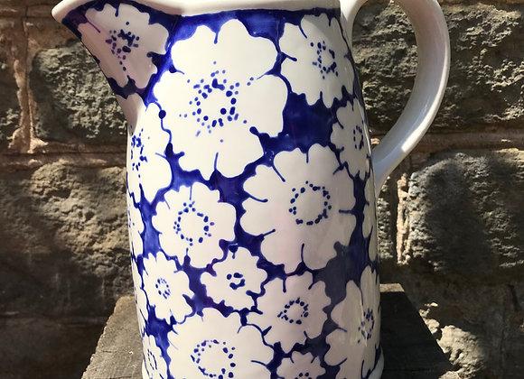 Blue Cosmos Large Sussex  jug