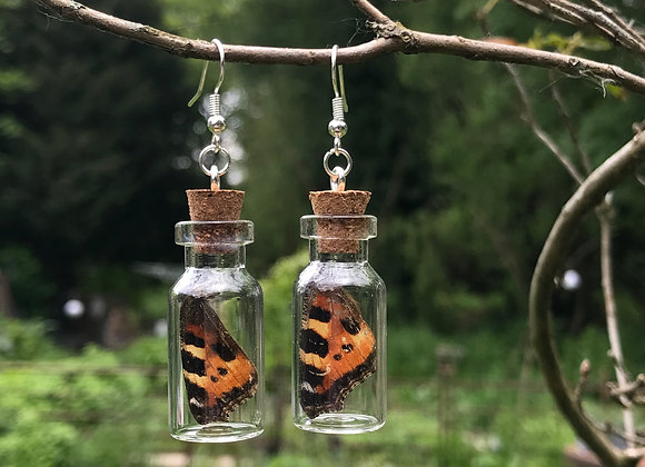 Jar Butterfly Wing Earrings