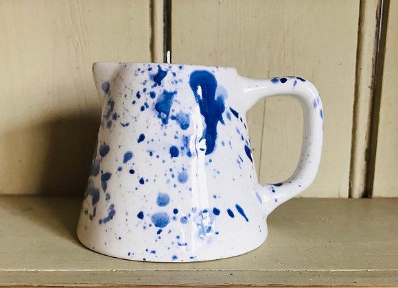 Splatter Baby jug blue