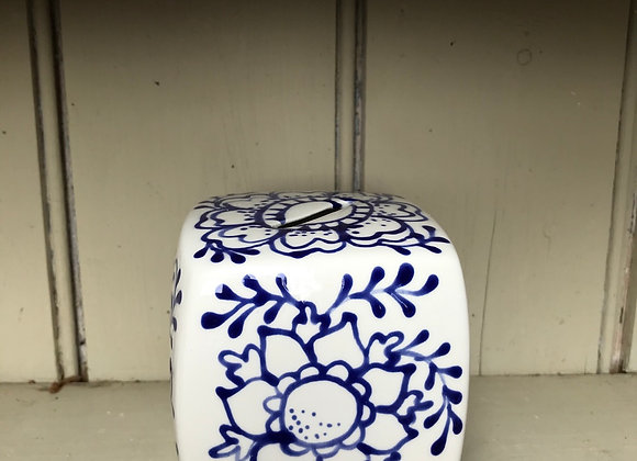 Fleur money box blue