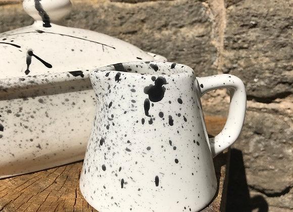 Black graffiti straight sided jug