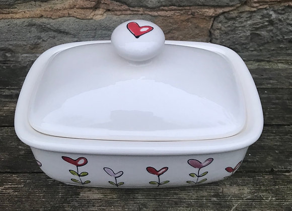 Love Grows butter dish
