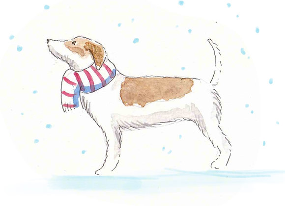 Jack Russell Terrier Christmas Cards set of 6