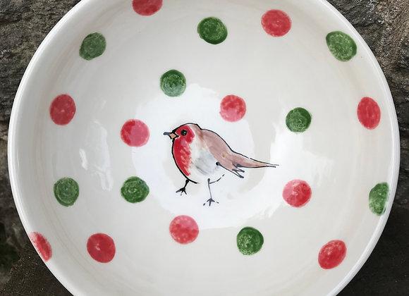Christmas Robin 16cm Bowl