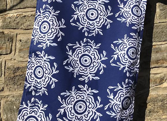 Blue Fleur Tea Towel