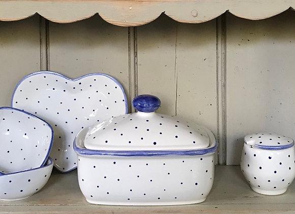 Mini Spot Blue butter dish