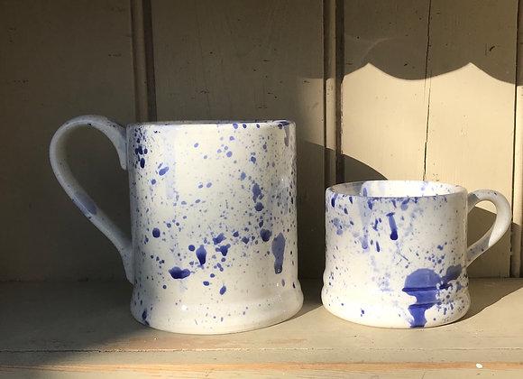 Blue Extra large mug  splatter