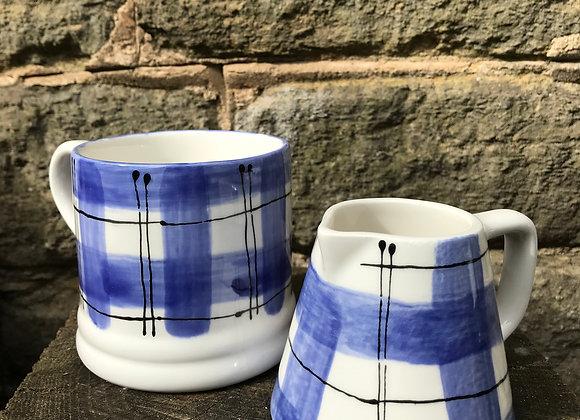 Blue Tartan Baby Mug
