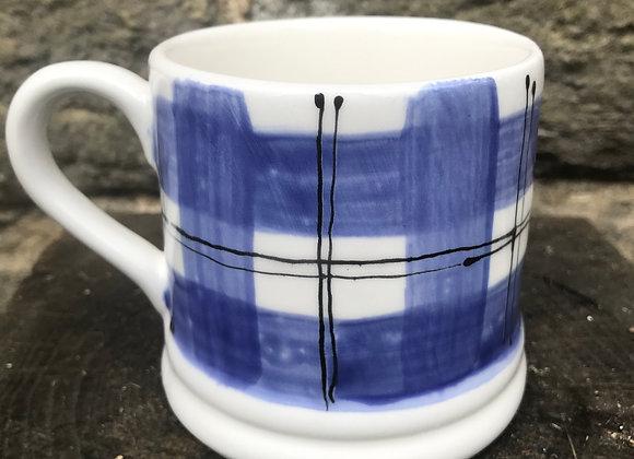 Blue Tartan Regular Mug