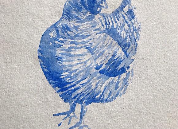 Maran hen water colour