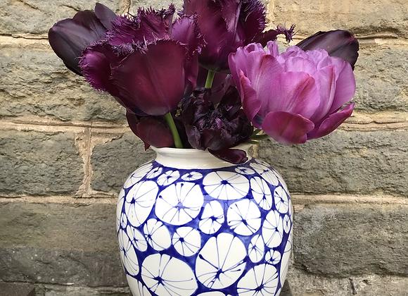 Blue Urchin Arundel Vase