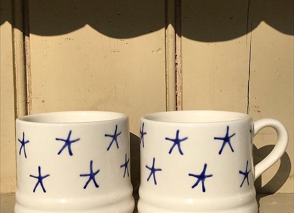 Blue  stars baby mug