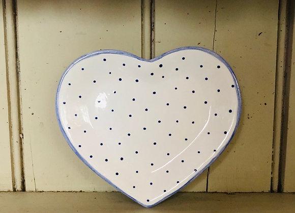 Mini spot Heart dish  blue