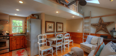 Cottage Remodel, South Chatham, MA, living room remodel