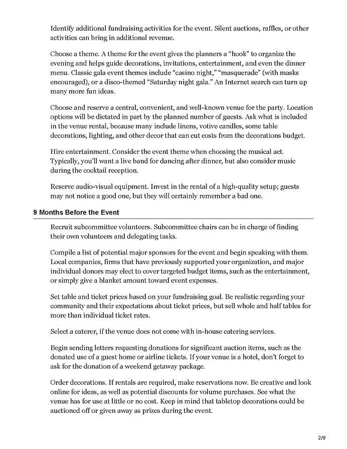 philanthropy.com-A Timeline for Organizi