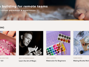 Virtual Experiences for Teams to Do from Home