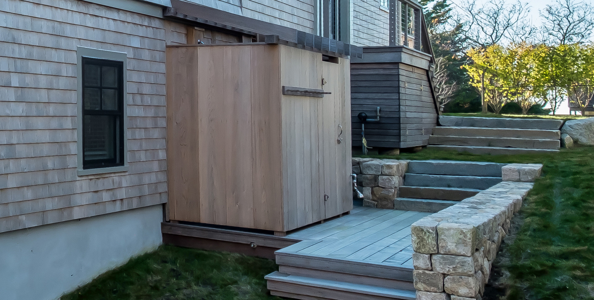 Bayberry Eastham, MA New Construction outdoor shower