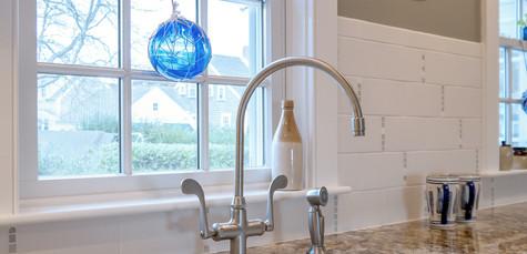 Old Village, Chatham,MA Historic Preservation Remodel, Kitchen remodel, new farmer's sink