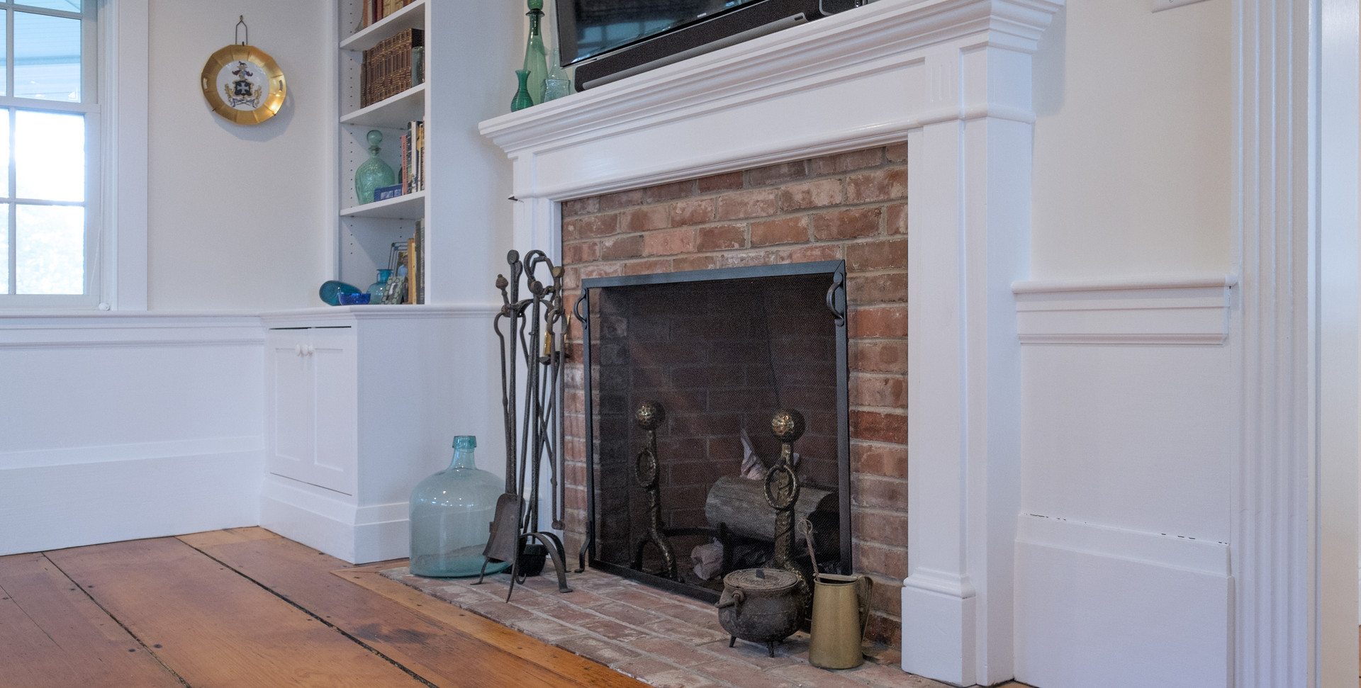 Old Village, Chatham, MA Historic Preservation Remodel, Cape Cod Fireplace