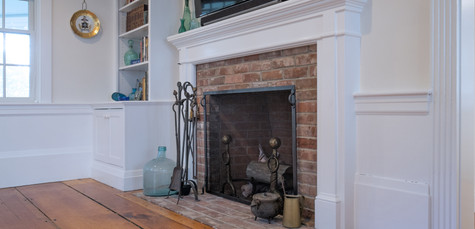 Old Village, Chatham,MA Historic Preservation Remodel, Cape Cod Fireplace