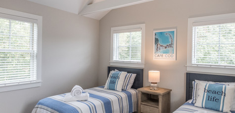Bayberry Eastham, MA New Construction Twin bedroom
