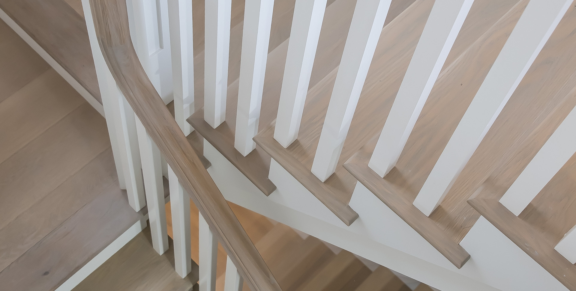 Bayberry Eastham, MA New Construction custom stairwell