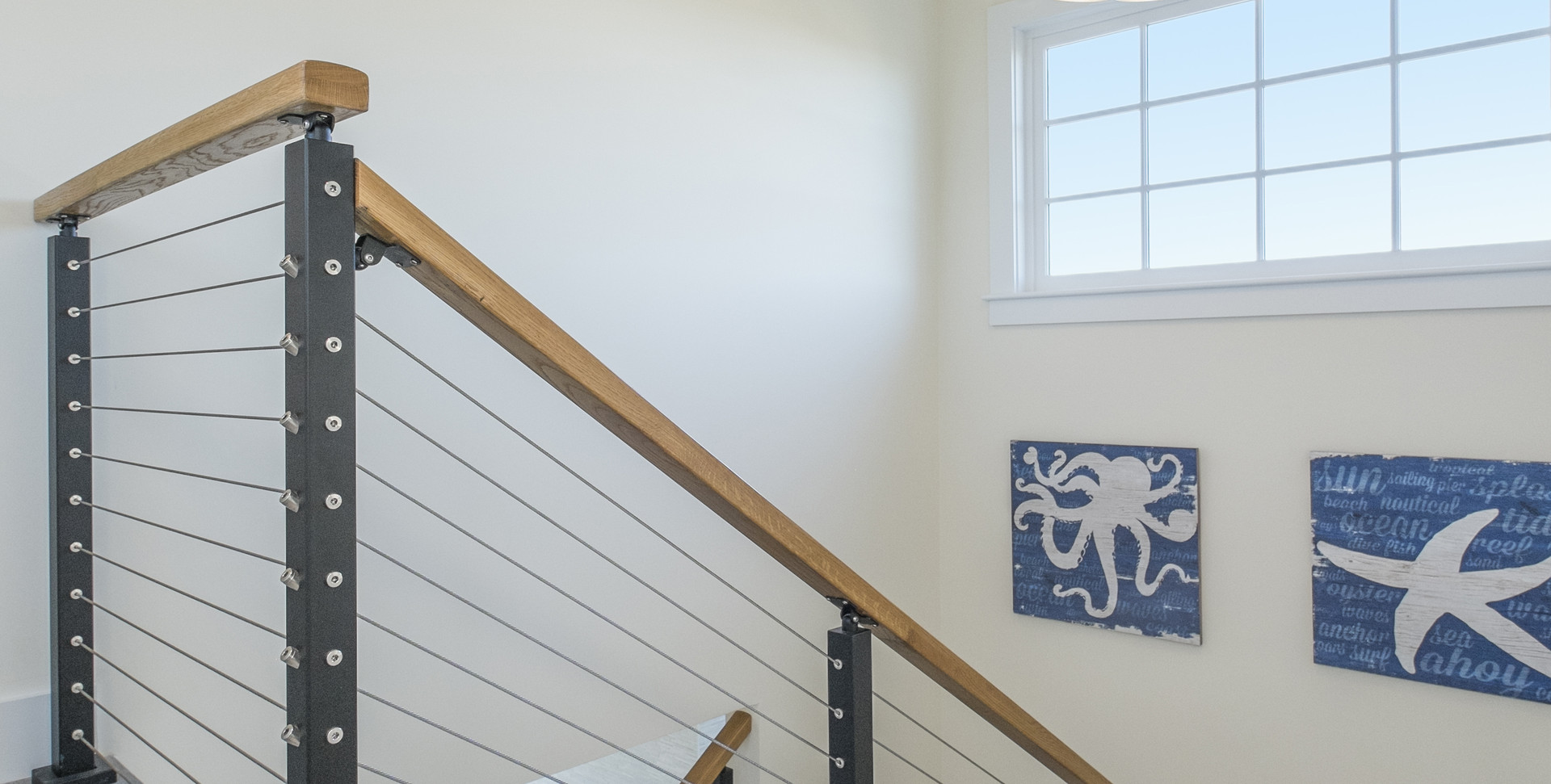 First Encounter Beach, Eastham MA New Home Construction custom stairway