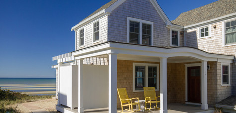 First Encounter Beach, Eastham MA New Home Construction with front porch